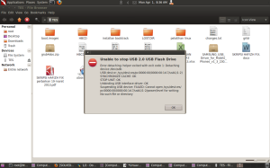 error save removable disk