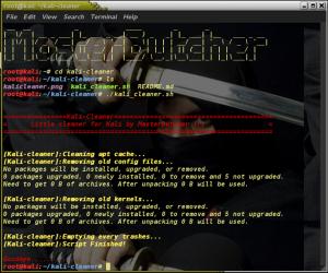 kali linux cleaner scripter